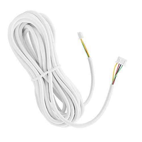 Cable para Videoportero, 10m 0.3mm² 4 Hilos Cable de Cobre Flexible para Sistema de Teléfono Video de la Puerta