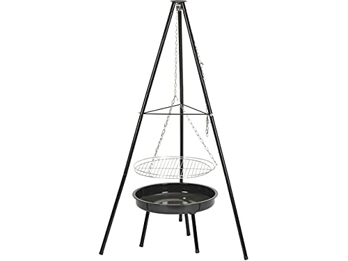 TrendLine Dreibein-Schwenk-Grill Ø 46,5cm Schwenkgrill Feuerschale verchromt