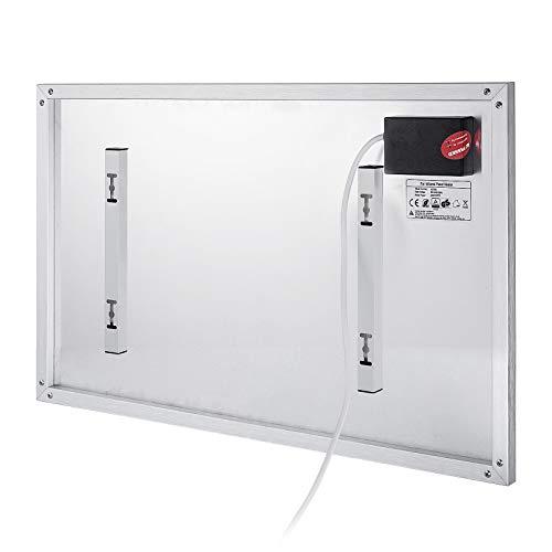 Ukiki Panneau de Chauffage Electrique Thermostat de Chauffage par Panneau à Infrarouge Chauffage Electrique par Rayonnement avec Télécommande (900W)