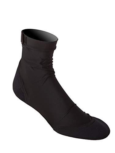 Sand Socks Vincere für Fußball, Volleyball, Schnorcheln XXS komplett schwarz (ohne Logo)