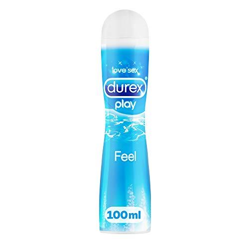 Durex Play Feel Gleitgel auf Wasserbasis – Leichtes, seidiges Gleitgel für gefühlsechtes Empfinden – 1 x 100 ml in der praktischen Dosierflasche