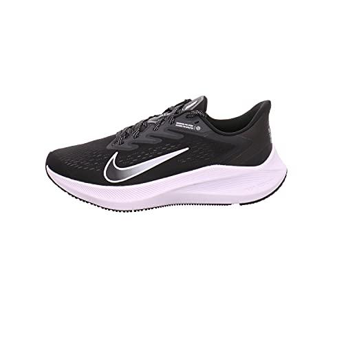 NIKE Zoom Winflo 7, Running Shoe Hombre, Black/White-Anthracite, 44 EU