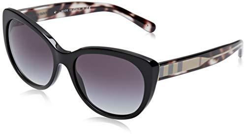 BURBERRY Damen 0BE4224 30018G 56 Sonnenbrille, Schwarz (Black/Gradient)