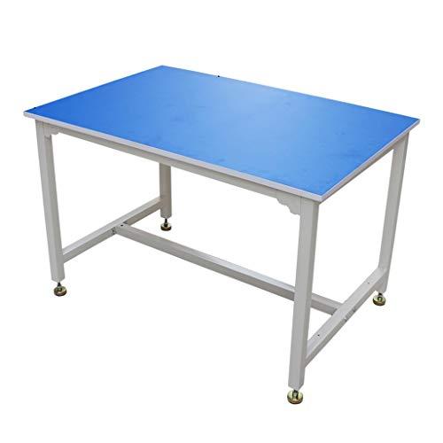 Banco de Trabajo de Tablero Azul Ignífugo Marco de Mesa de Pintura Gruesa de Acero Mesa de Trabajo Móvil de Cocina Mesa de Operación de Ensamblaje de Empaque de Almacén de Piso a Techo