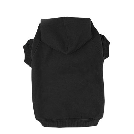 BINGPET Blank Basic Cotton/Polyester Pet Dog Sweatshirt Hoodie BA1002, Black Medium