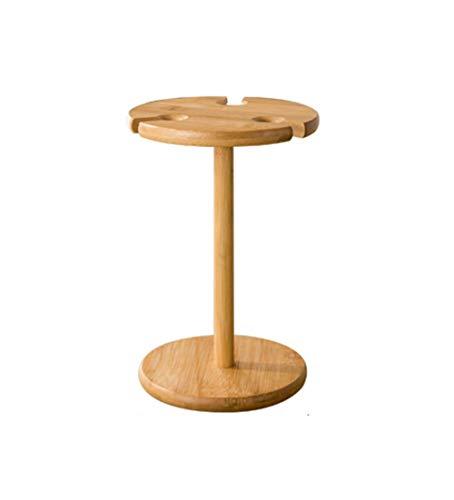 Weinbecherhalter Bambus und Holz Kreative Einfachheit Weinschrank Dekoration 15x25x16cm Multifunktion (Größe: Klein)