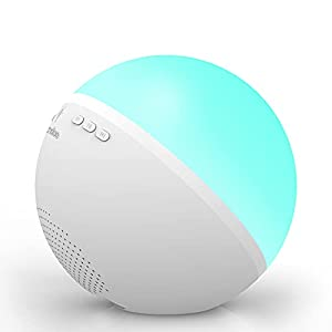 FANSBE White Noise Machine with 12 Soothing Sounds, Protable Sound Machine with Night Light for Baby Kid Adult, Sleep Sounds Machine for Home Travel and Office
