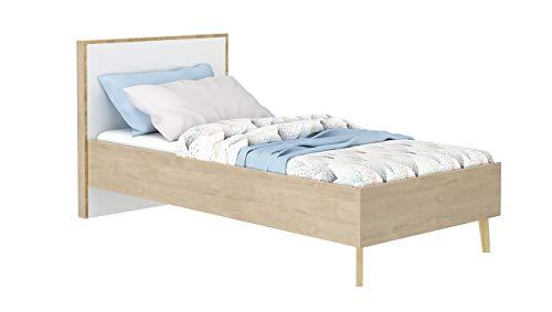 Meubletmoi Collection Sidoine - Cama individual (90 x 190 cm), diseño de dormitorio infantil escandinavo