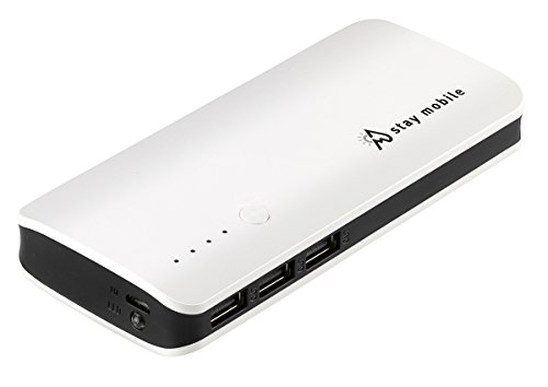 stay mobile Power Bank (22400 mAh) (latest Technology) 3 USB Output Portable Charger and External Battery for iPhone, iPad, iPod, Samsung Galaxy, and different Smartphones and Tablets from stay mobile