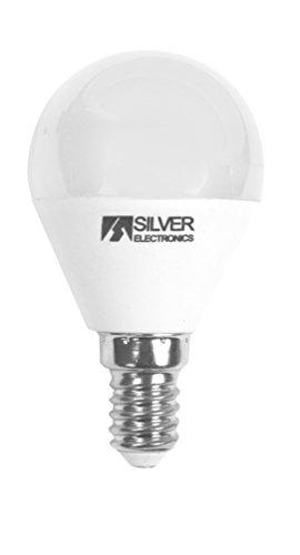 Silver Electronics LED sphérique réglable E14, 5 W, Blanc