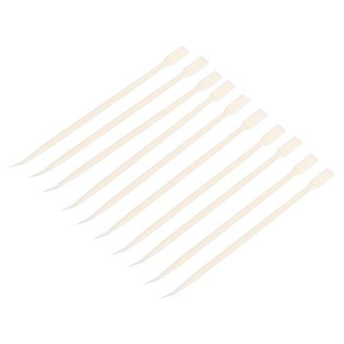 10pcs jetable coudée extension bâton micro brosse coton écouvillon cils écouvillon