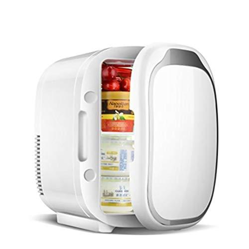 WRJ Mini Nevera Eléctrica Blanca Enfriador Y Calentador Dos Reutilizables Exterior del Refrigerador del Coche Dormitorio del Hogar 6L-Tienda De Cosméticos Máscaras,Blanco
