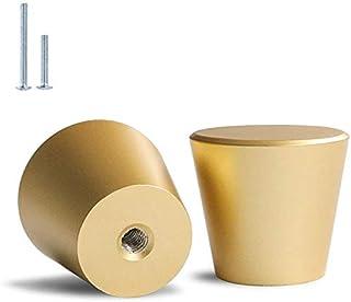 Brushed Brass Cabinet Knobs Gold Dresser Knobs - homdiy LS745GD Solid Round Drawer Knobs Gold Knobs for Dresser Drawers Go...