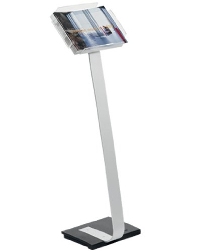 """Price comparison product image DURABLE Literature Display Tray Floor Stand for Letter-Size Papers,  Study Aluminum Base,  Portrait & Landscape,  40"""" Height (486323)"""
