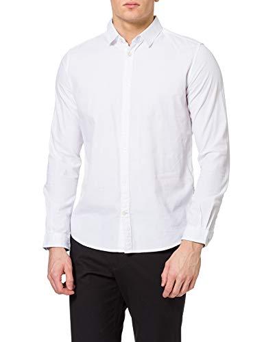 TOM TAILOR Herren 1023881 Basic Hemd, 20000-White, XXL