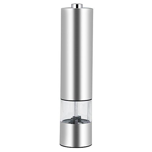 Molen, elektrische zwaartekracht pepermolen of zoutmolen met instelbare grofheid, automatische pepermolen werkt op batterijen
