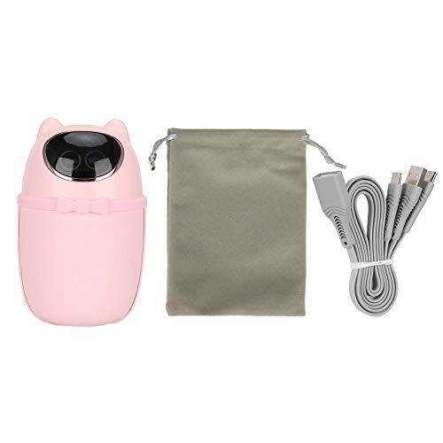 Calentador de manos, calentador de mano recargable portátil Calentador de mano de bolsillo termostático Regalo para niña(Rosado)
