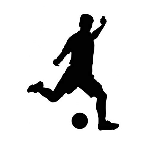 SUPWALS Wandtattoos Fußballspieler Aufkleber Sport Dekor Helme Kinderzimmer Dekoration Poster Vinyl Fußball Auto Aufkleber Wandtattoos 30X38Cm