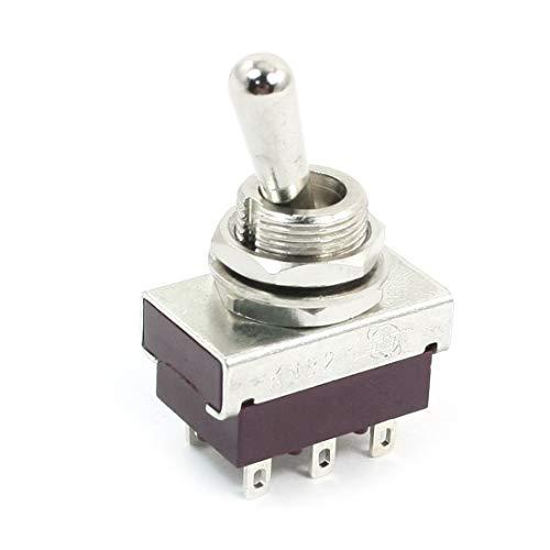 DPST Rast Terminales de 2 posiciones y 6 polos Mini interruptor de palanca AC 250V DE de