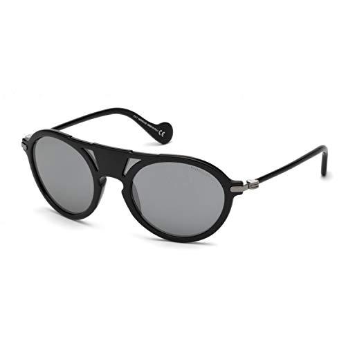 Moncler Unisex-Erwachsene ML0053 01B 00 Sonnenbrille, Schwarz (Nero Lucido/Fumo Grad), 0