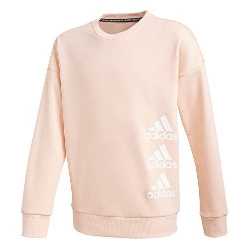 adidas Mädchen JG MH Crew Sweatshirt, Weiß (CORNEB/Blanco), 164 (13/14 años)