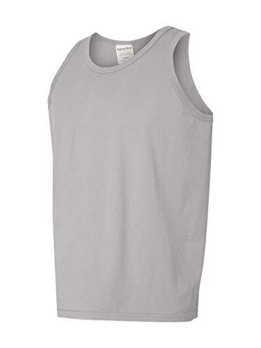 Hanes Comfortwash Garment Dyed Tank Top Concrete Gray MD