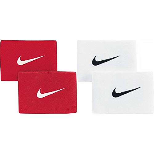 Nike Herren Schienbeinschonerhalter Guard Stay II, University Red/White, One Size & Herren Schienbeinschonerhalter Guard Stay II, weiß (White/Black), One Size, SE0047-101