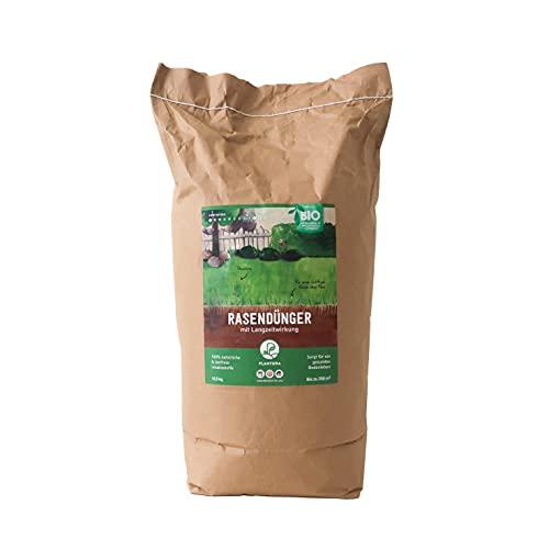 Plantura Bio-Rasendünger, organisch, 10,5 kg in Papierverpackung, 3 Monate Langzeitwirkung, zur Frühjahrs- & Sommerdüngung, unbedenklich für Haustiere