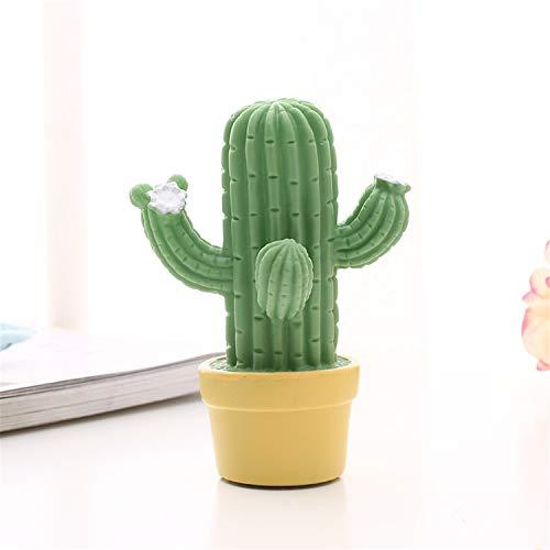 JASZHAO Kaktus LED Nachtlicht 2 Stücke Schießen Requisiten Cereus Schreibtisch Tischlampe Kinder Schlafzimmer Dekor