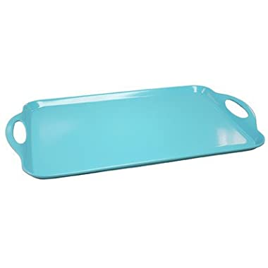 Calypso Basics by Reston Lloyd Melamine Rectangular Tray, Turquoise