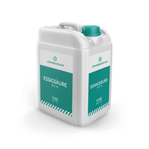 chemiekontor.de Essigsäure 80% | technisch | Premium-Qualität | 100% natürlich Größe 5 kg