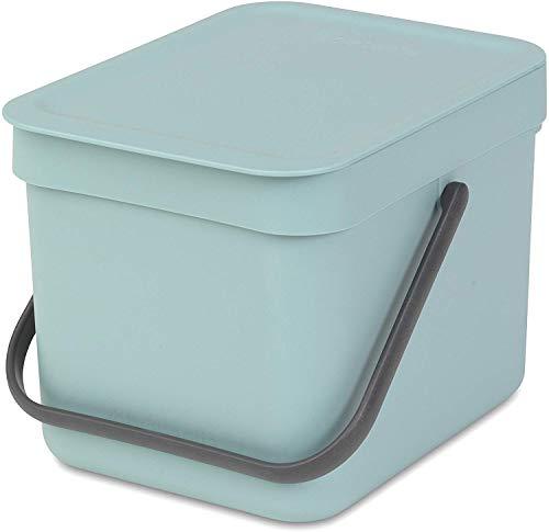 Brabantia 109645 Sort & Go Waste Bin, 6L/1.6 Gal. , 6 L, Mint