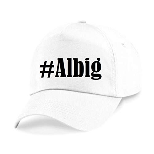 Reifen-Markt Base Cap Hashtag #Albig Größe Uni Farbe Weiss Druck Schwarz