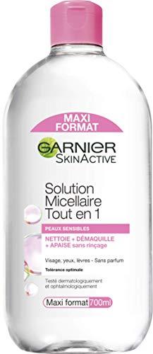 Garnier - SkinActive - Solution Micellaire Tout en Un - Tous Types de Peaux Même Sensibles - Maxi Format - 700 ml