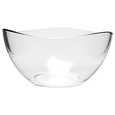 Medium Clear Glass Wavy Serving/Mixing Bowl, 63.5 oz