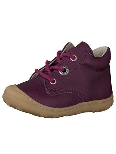 RICOSTA Pepino Mädchen Stiefel Cory, WMS: Mittel, Kinder-Schuhe Klett-Schuhe toben Spielen Freizeit leger Boots Leder Kids,Merlot,18 EU / 2 UK