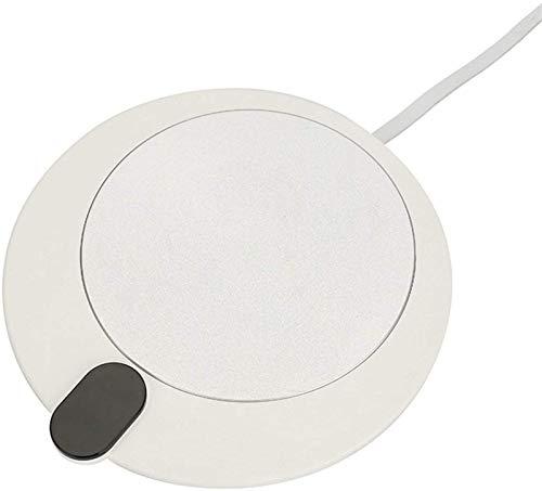 AQWESD - Calentador portátil para Tazas de café para Escritorio con Interruptor de Pantalla táctil/Posavasos Calefactor Calefacción USB Control Inteligente de Temperatura de 3 velocidades
