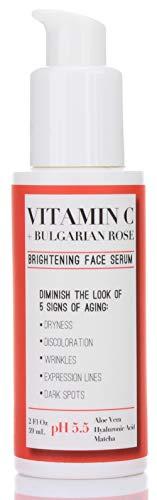 31HkFsze 1L - Medix 5.5 Vitamin C Cream & Vitamin C Serum Two Piece Set. Anti-Aging Vitamin C Set with Vitamin E & Turmeric for Brightening, Dark Spots, Discoloration, and Sun Damaged Skin. 15oz Cream + 2oz Serum.