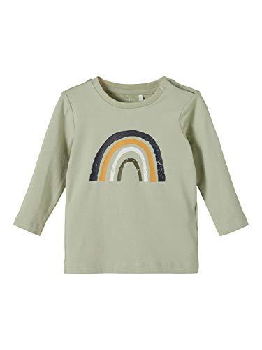 NAME IT NBMDAFORM LS Top Camiseta de Manga Larga, Desert Sage, 56 cm para Bebés