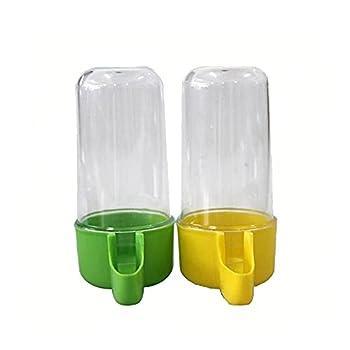 XNBZJ Plastique Automatic Automatic Authésif Alimentateur Canaary Food Water Bottle Bouteille De Stockage Perroquet Cage Boire Conteneur (Size : 50mlAt Random)