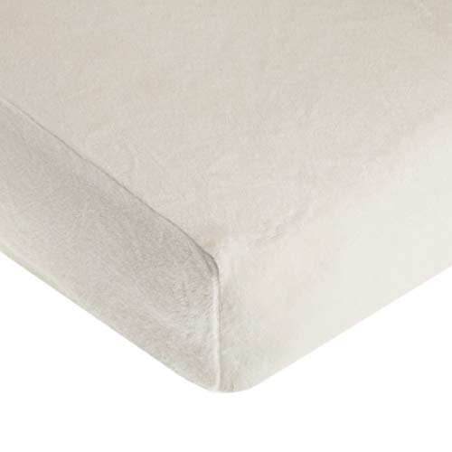 American Baby Company Heavenly Soft Chenille Fitted Crib Sheet for Standard Crib and Toddler Mattresses, Ivory, for Boys and Girls, Pack of 1