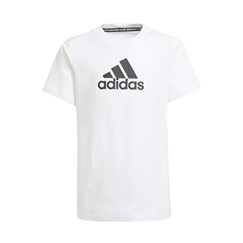 adidas BOS Tee, Maglietta Bambino, Bianco Nero, 1112