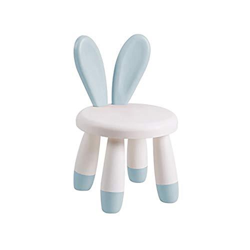 WENCY Kinderstoel Konijn Oren Antlers Plastic Lager Capaciteit Antislip Leuke Cartoon Rood Blauw Groen