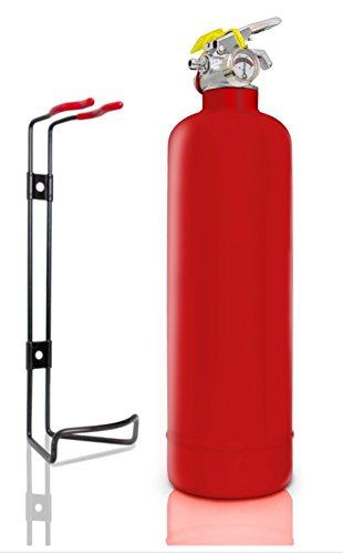 Mehrzweck-Feuerlöscher mit ABC-Pulver 1kg, vollständig CE-zertifiziert; ideal für Auto, Lieferwagen, Wohnwagen, Küchen, Zuhause, Arbeitsplatz, Restaurants, Café Brandschutzklasse 8A, 21B, C. rot