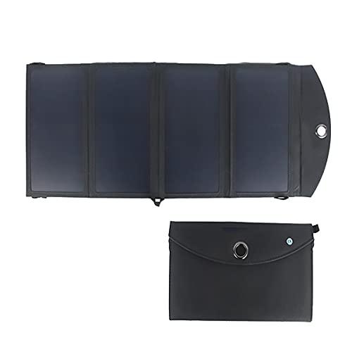 JINGH Cargador solar de alta conversión,Banco de energía plegable,Ultra-delgado e impermeable,Adecuado para exterior,Pesca,Off-road,Emergencia