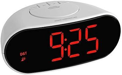 Trevi EC 880 Digital Alarm Clock Negro Despertador Digital Alarm Clock, Ovalado, Negro, LED, 135 mm, 65 mm