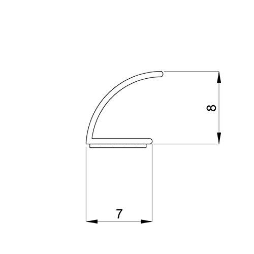 DIWARO® Selbstklebende - Dichtung SK004 | schwarz | 5 Meter | geeignet als Fensterdichtung wie auch als Türdichtung. Mit starken und sehr haltbaren Klebeboden.