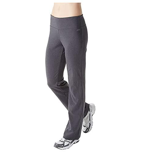 Jockey womens Slim Bootleg Yoga Pants, Charcoal, Small US
