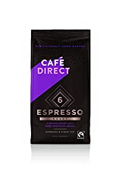 Strength 6 - Dark and Intense New 100% Arabica Espresso blend Enjoy a full-bodied and intense espresso with a sweet finish This coffee is suitable for all coffee makers Sourced directly from smallholder farms - Cafédirect reinvests 50% of it profits ...