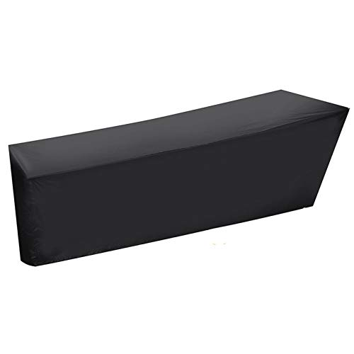 DEFTSHEEP 1pc 210x75x80cm Copertura Impermeabile per Esterni Black Patio Chaise Lounge Cover Deck Chair Mobili Resistente ai Mobili Arredamento UV Protezione
